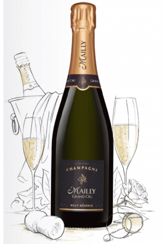Champagne  Blanc, Champagne Brut Réserve (Champagne Mailly Grand Cru)