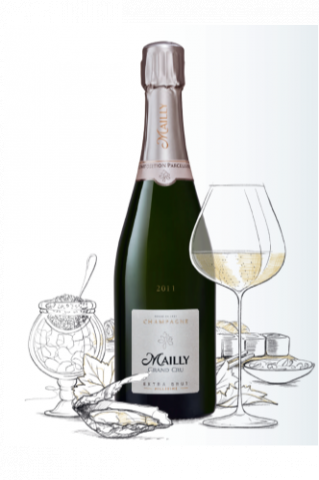 Champagne  Blanc, Champagne Extra Brut Millésimé (Champagne Mailly Grand Cru)