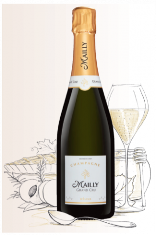 Champagne  Blanc, Délice  (Champagne Mailly Grand Cru)
